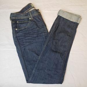 TOPMAN Trigger Skinny Moto Men's Rolled Cuff Jeans